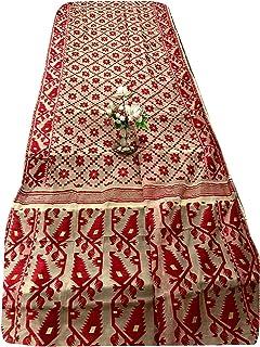 عاجية هندية جامداني نسج ساري امرأة القطن لينة لينة موتيف مسلم داكا ساري 933a