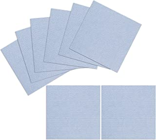 TRILUC, 12 x 12 Place and Stick Carpet Tile Squares. Non Slip Backing & Washable Floor Tile - 8 Pc Set - Light Blue