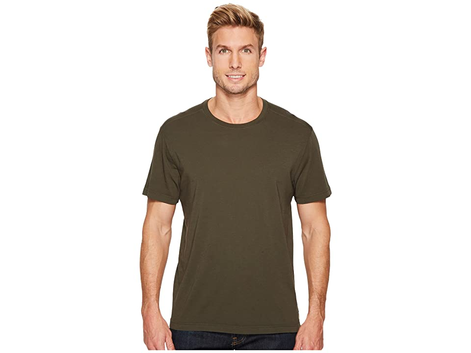 Image of Agave Denim Agave Supima Crew Neck Short Sleeve Tee (Forest Night) Men's T Shirt