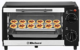 belaco New BTO-109N Mini 9L Toaster Tabletop Cooking Portable Oven 750w 60 min Timer 100-230° Stainless Steel Heating Tube...
