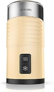 arendo - Espumador de Leche milkloud automático - Diseño Inoxidable de Pared Doble- 2 Botones para espumar en frío y en Caliente - Superficie Suave - función de Apagado automático - Creme
