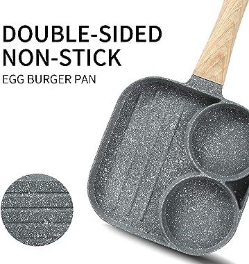 Nonstick Pan Steak Fried Egg Sausage Frying Pan Mini Pancake Pan Cast iron skillet Omelette Pan Frying Pot (Frying pan)