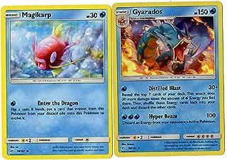 Sun Moon Team Up - Evolution Set - Gyarados 30/181 - Magikarp 29/181 - Holo Rare Card Lot