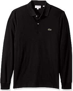 Lacoste Mens Long Sleeve Interlock Pima Regular Fit Polo Shirt