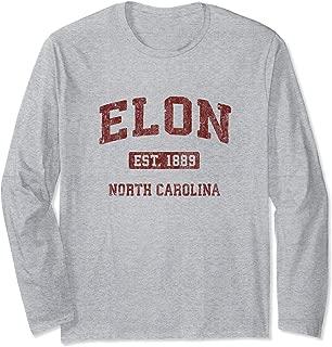 Elon North Carolina NC Vintage Athletic Sports Design Long Sleeve T-Shirt