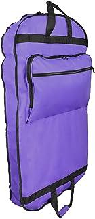 "DALIX 39"" Garment Bag Cover Suits Dresses Clothing Foldable Shoe Pocket in Purple"