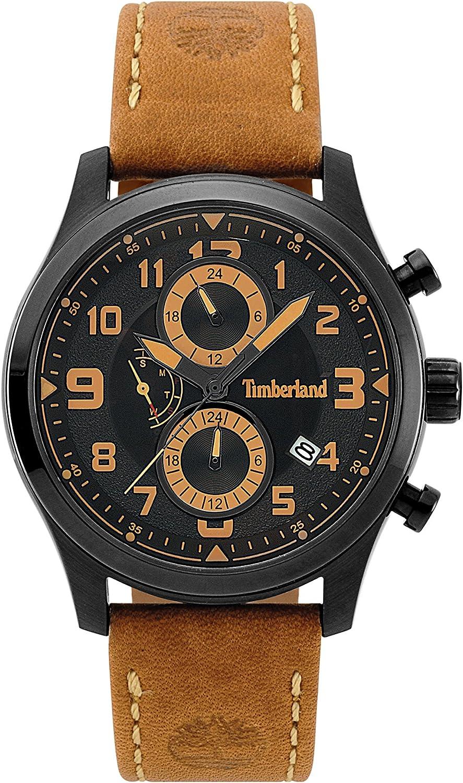 Timberland Reloj Multiesfera para Hombre de Cuarzo con Correa en Cuero TBL.15357JSB/02