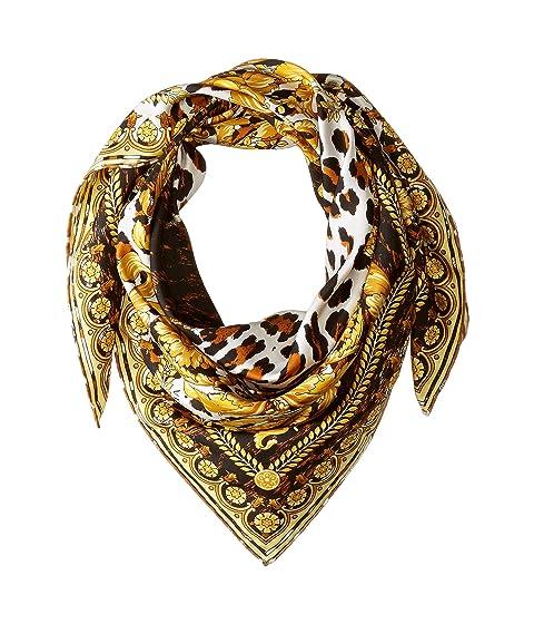 Versace Leopard Print Scarf