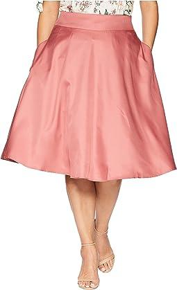 Plus Size High-Waist Vivien Swing Skirt