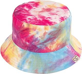 Funky Junque Kids Waterproof Bucket Hat Outdoor Reversible Tie Dye Rain Cap