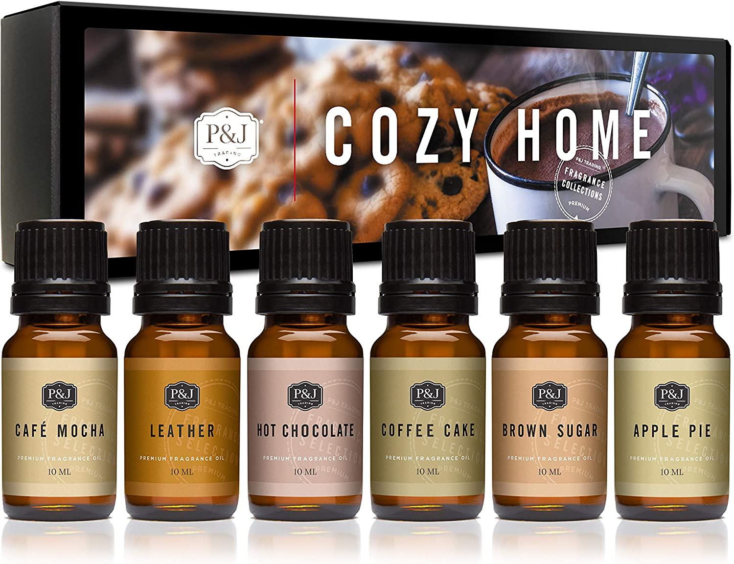 PJ Trading Fragrance Oil Cozy Home Max 49% OFF for Scented Fixed price for sale Set of 6 -
