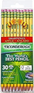 Ticonderoga Wood-Cased Graphite Pencils, 2 HB Soft, Pre-Sharpened, Yellow, 30 Count (13830)