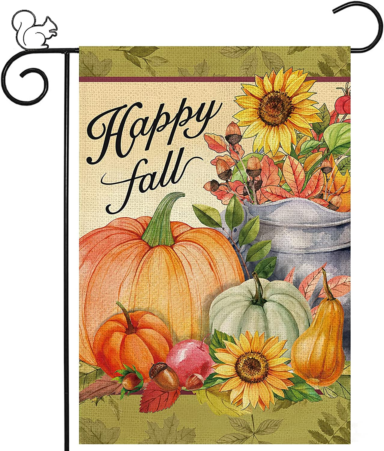 Happy Fall Garden Yard Flag Pumpkin New Shipping Free Our shop OFFers the best service House Sunflowers Flags 12 x