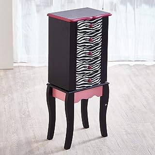Teamson Kids Zebra Armario de Cofre Madera Negro 30.99x24.51x74.30 cm