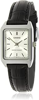 Casio Women Silver Dial Leather Band Casual Watch - LTP-V007L-7E1UDF