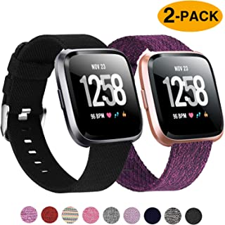 Welltin 2 Pack Bands Compatible with Fitbit Versa /...