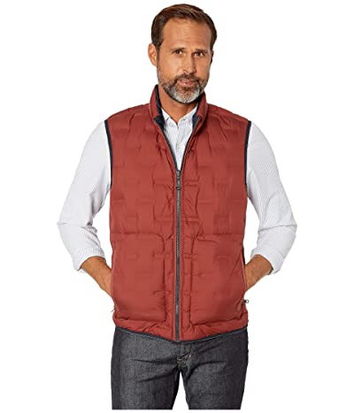 BUGATCHI Melton Sleeveless Reversible Vest (Brick) Men