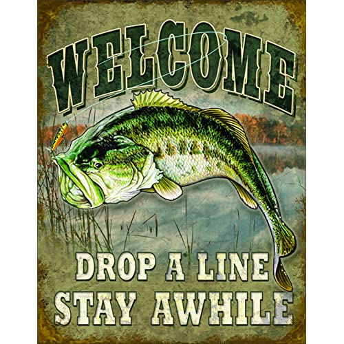 8x10 Fishing Sign Worlds Greatest Fisherman Man Cave Fish Wall Plaque USA Made