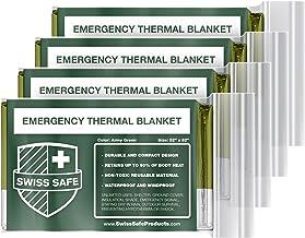 Emergency Mylar Thermal Blankets (4-Pack) + Bonus Signature Gold Foil Space Blanket: Designed for NASA, Outdoors, Hiking, ...
