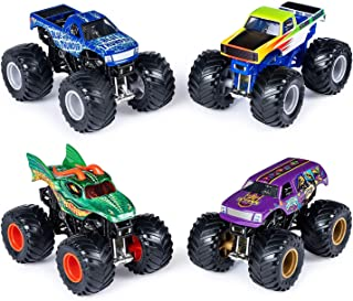 Monster Jam Official Die-Cast 1:64 Scale Double 2 Pack (Blue Thunder, Storm Damage, Dragon, Jester)