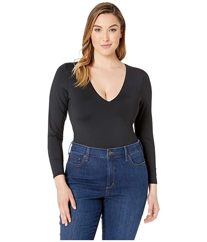 Volcom Plus Size Simply Seamless Bodysuit (Black) Women
