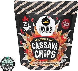 IRVINS Salted Egg Hot Boom Cassava Chips, 105g