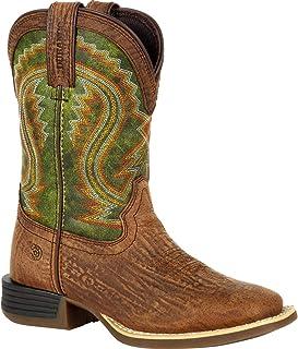 Durango Lil Rebel Pro Little Kid's Briar Green Western Boot