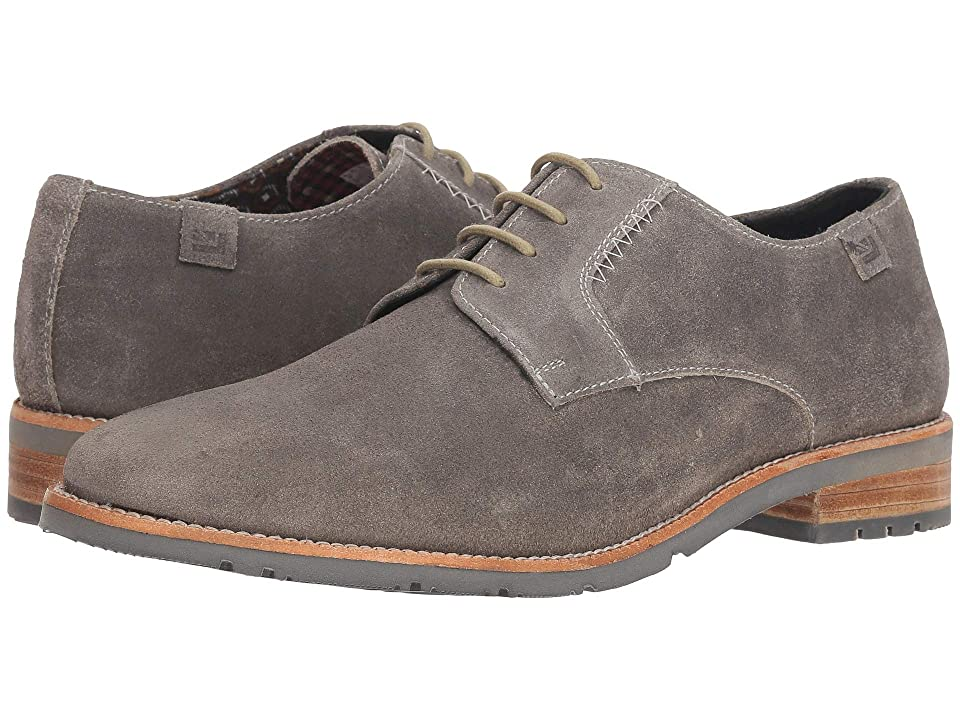 Ben Sherman Rugged Leather Oxford (Grey Suede) Men