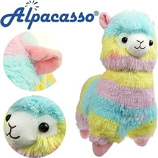 Alpacasso 14'' Rainbow Plush Alpaca, Cute Stuffed Animals Toys.