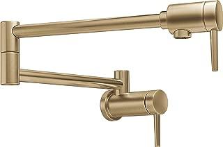 Delta Faucet Contemporary Wall-Mount Pot Filler Faucet, Champagne Bronze 1165LF-CZ