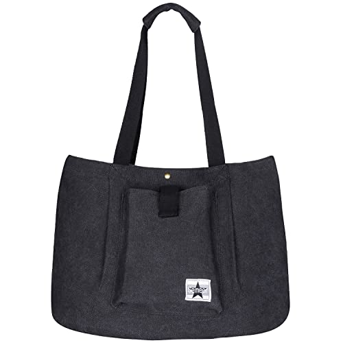 Gemeer Tote Bag Canvas Large Handbags for Women School Work and Shopping bag  – Dark Gray 49e2322a1
