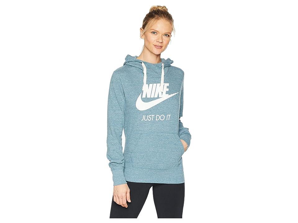 Nike Sportswear Gym Vintage HBR Hoodie (Celestial Teal/Sail) Women