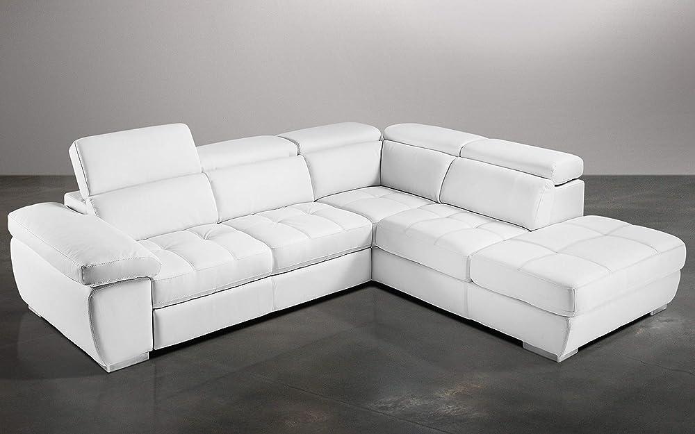Dafne italian design,divano letto angolare, 3 posti con penisola a destra,in similpelle 0806881768912
