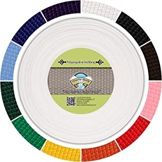 Country Brook Design - White Polypropylene 1/2 Inch Webbing
