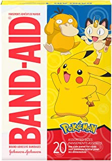Band-Aid Brand Adhesive Bandages for Minor Cuts & Scrapes, Wound Care Featuring Pokemon Characters for Kids, Assorted Size...