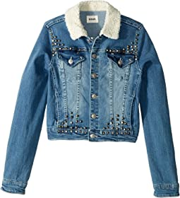 Cropped with Sherpa & Studs (Big Kids)