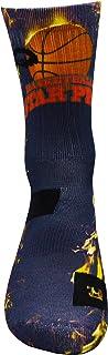 Estrella de Baloncesto PRO Athletic Calcetines con Diseño Motivo Hecho a Mano Calcetines de impresión 3D para Baloncesto Respirable Coolmax Calcetines deportivos para Rendimiento de altura