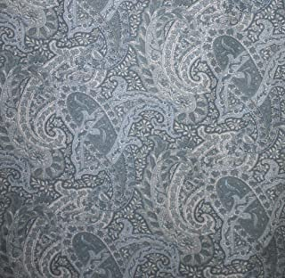 Set of 4 Waterford Cloth Napkins - Sonata- Blue Paisley-100% Cotton - 18
