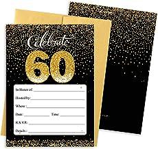 amazon com 60th birthday invitations