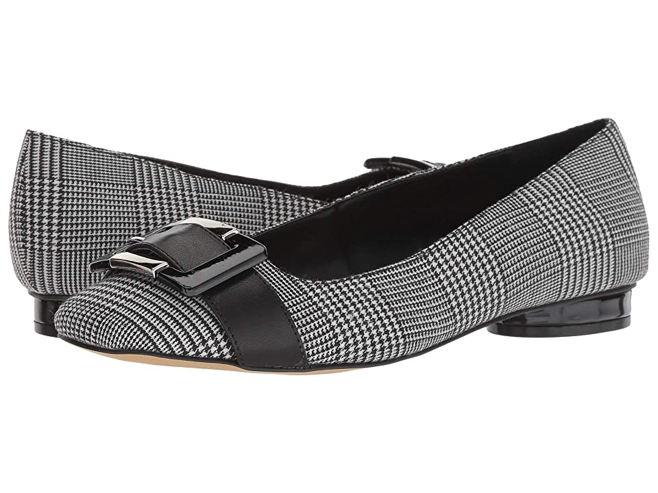 Tahari Venice (Black/White Herringbone Fabric) Women