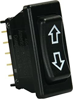Diamond Group Valterra DG1715BVP in-Line Terminal Switch DPDT - Square 5-Pin, Black