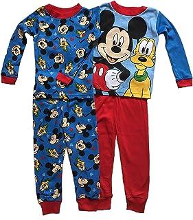4694faf9b5 Disney Little Boys Toddler Mickey Mouse   Pluto 4 Pc Cotton Pajama Set