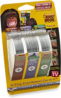 Best Monkey Hooks Picture Hangers Home and Office Pack, Gorilla Hook, Drywall Hooks for Hanging Pictures, Wall Hooks, Picture Hangers, Picture Hanging Kit, 30 Pc Set Reviews
