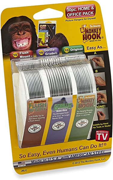 Monkey Hook Picture Hanger Home And Office Pack 30 Pc Set