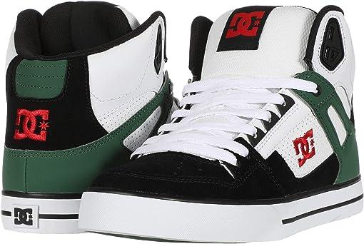 White/Green/Black