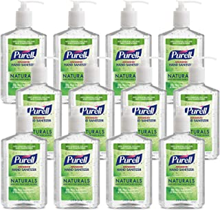PURELL NATURALS Advanced Hand Sanitizer Gel, with Skin Conditioners and Essential Oils, 12 fl oz Counter Top Pump Bottle (...