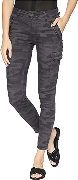 Juliette Skinny Cargo in Smoke Camo