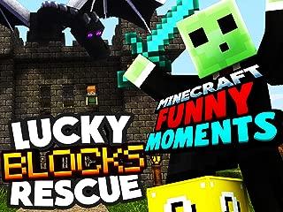 Clip: Lucky Blocks Rescue! (Minecraft Funny Moments)