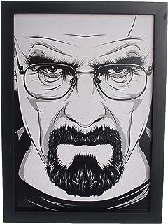 لوحة جدارية مع اطار خشبي - رب قهوه ، ART-0749