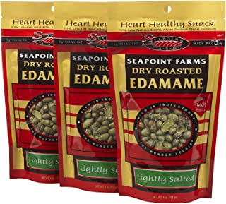 Dry Roasted Edamame, Lightly Salted, 4 oz (3 pack) by Seapoint Farms
